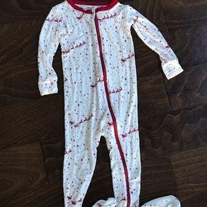 KicKee Pants Flying Santa Footed Pajamas